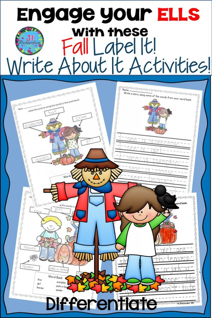 ell writing, fall writing, ell writing activities
