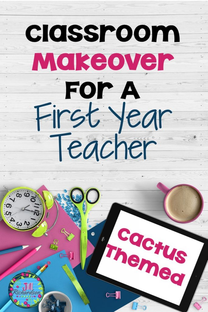 This Cactus Classroom Theme Makeover was created for my daughter who is a first year teacher! It tells how we acomplished this step by step!