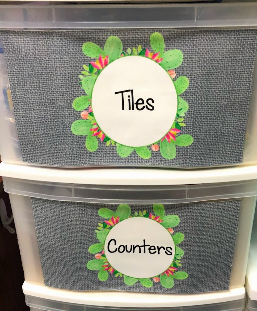 These Cactus Classroom Editable Labels will help you organize all of your math manipulative! Click to see! #cactuslabelseditable #cactuslabels #cactusclassroom