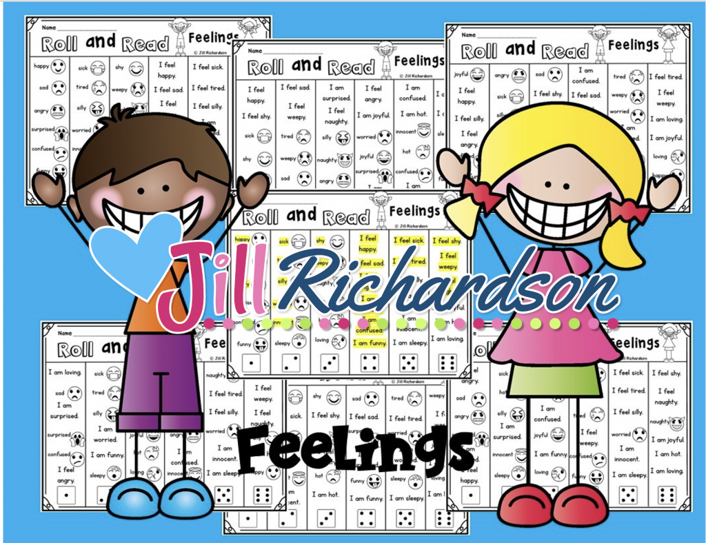 Reading for English language learners activity, Roll and Read Feeling Examples